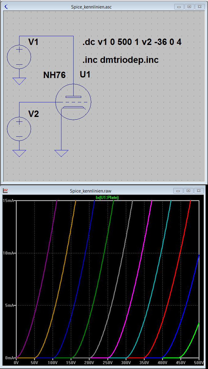 Simulation of Tubecircuits with LTSpice and PSpice